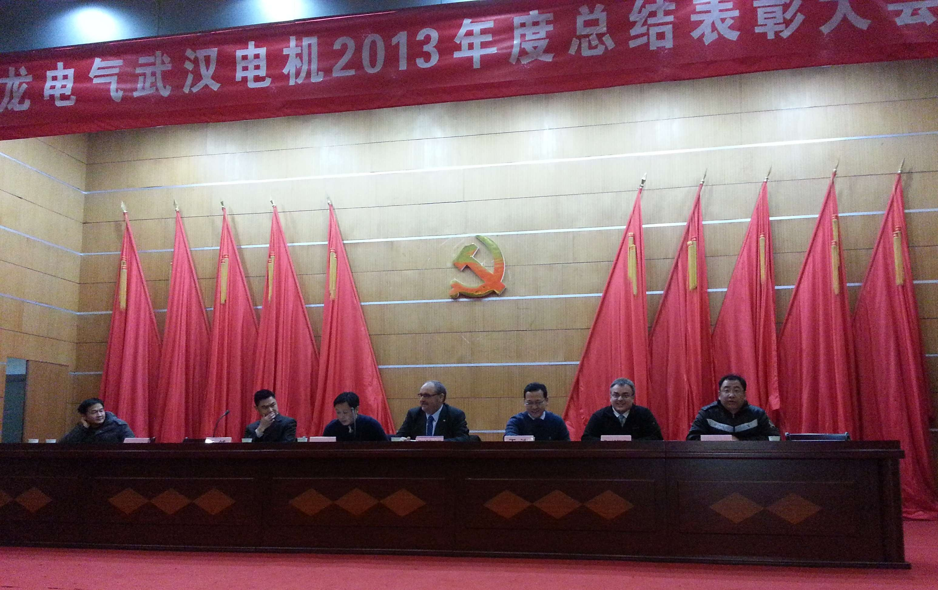 Steve Kolowiecki gives speech at Wuhan